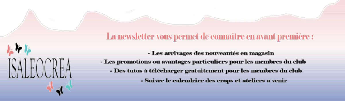 Newsletter Isaleocrea Boutique Allier Auvergne