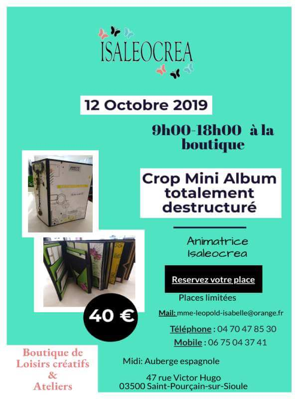 Affiche Crop12Oct19 Isaleocrea Boutique Allier Auvergne