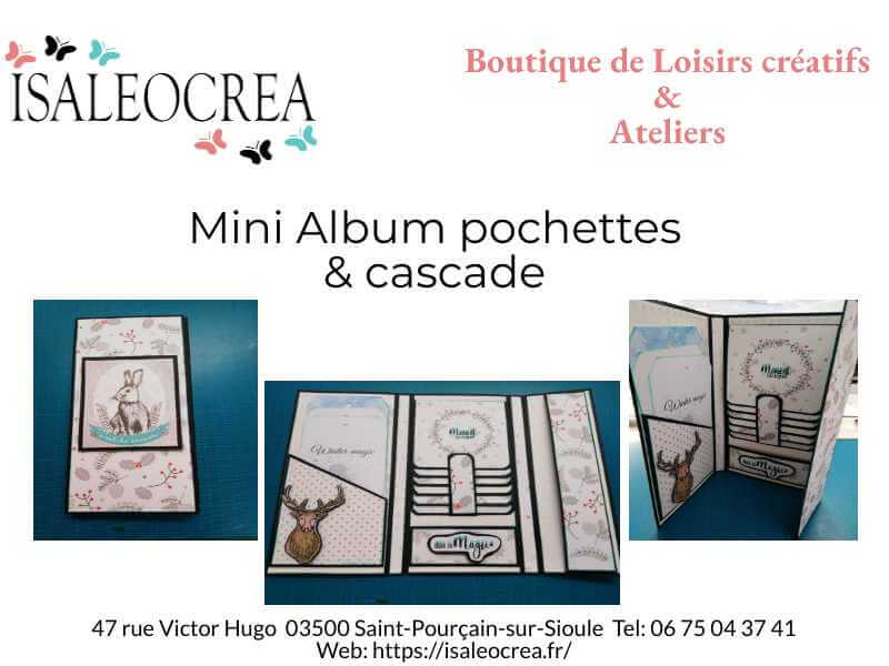 Mini album pochettes et cascade Isaleocrea