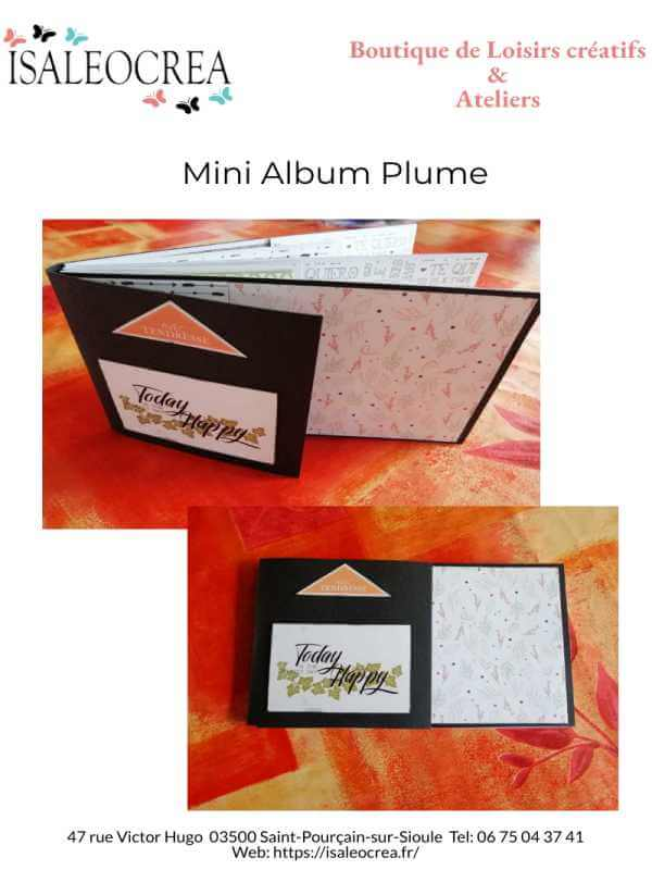Couv Mini Album Plume Isaleocrea Boutique Allier Auvergne